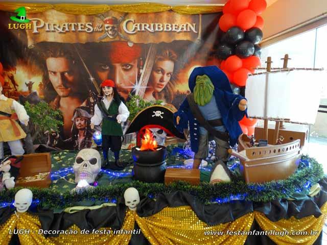 Decoração de festa Piratas do Caribe