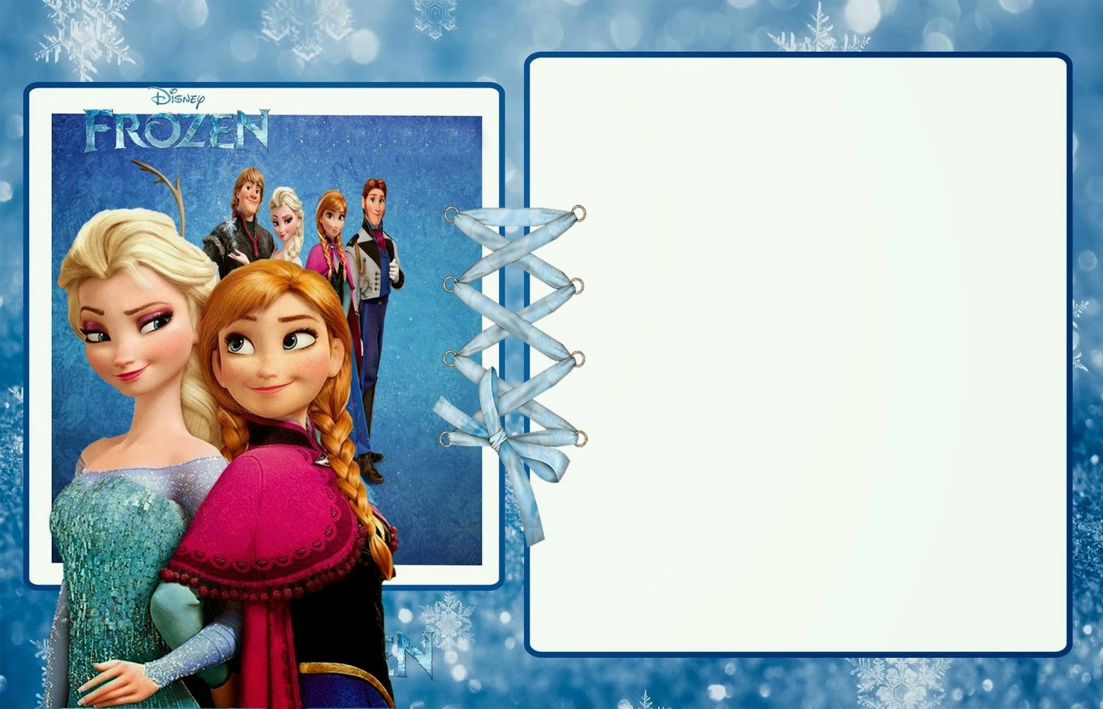graphic about Frozen Invitations Printable identified as Frozen Occasion: Cost-free Printable Invites. - Oh My Fiesta! inside of