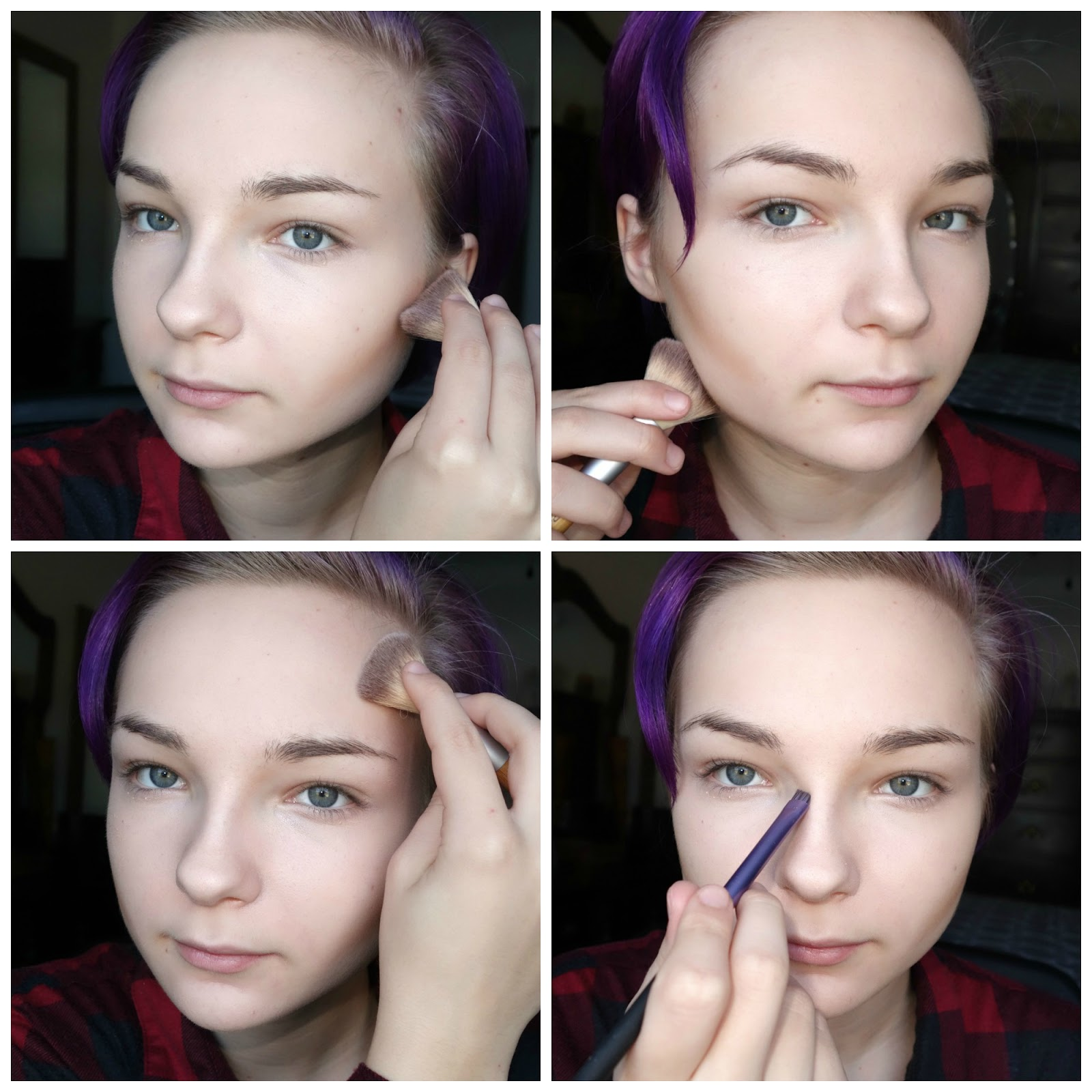 To Contour, I'm Beginning With Fawn, The Bottom Middle Shade, And Applying  It Along My Cheekbones, Following My Natural Contour Until I Reach Just  Beneath