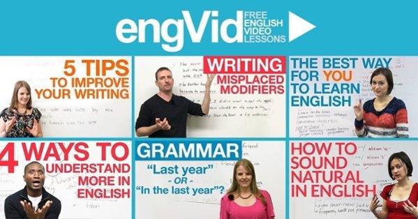 موقع انجليزى, engvid.com english, engvid grammar, انج فيد, تعليم مجانى, انجليزى, كورسات مجانية, كورس مجانى