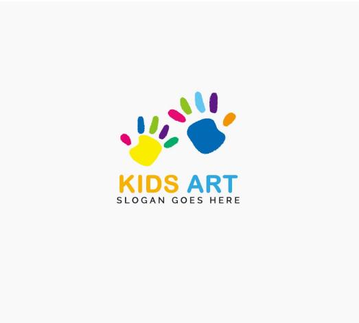 Kids Art Logo PNG and PSD Free