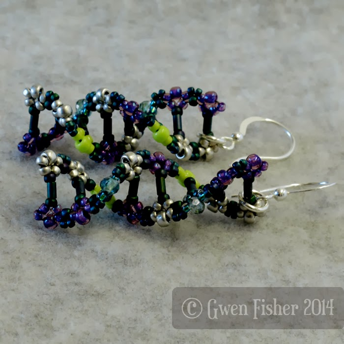 Teal DNA Earrings
