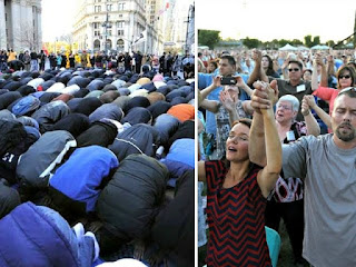 Muslims praying - Christians praying