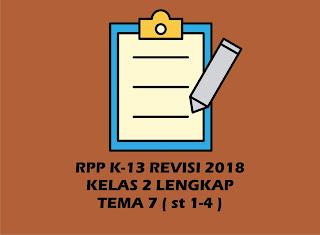 Download RPP Kelas 2 SD/MI Tema 7 Kurikulum 2013 Revisi 2018