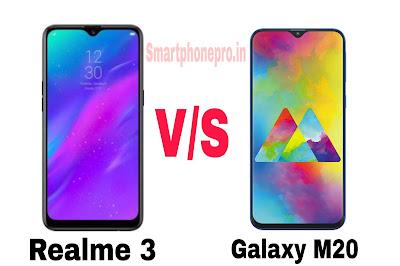 Galaxy M20 Vs Realme 3