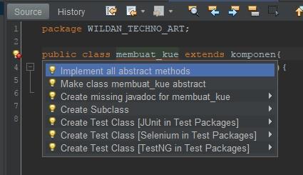 Mengextends kelas Abstrak pada Subclassnya