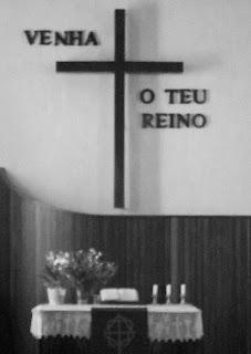 Altar da Igreja Evangélica de Confissão Luterana de Nova Petrópolis
