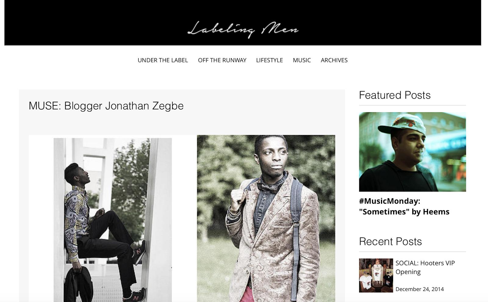 LABELING MEN | MUSE : blogger jonathan zegbe