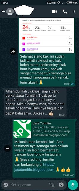 Hasil Turnitin Mahasiswa IAIN Surakarta
