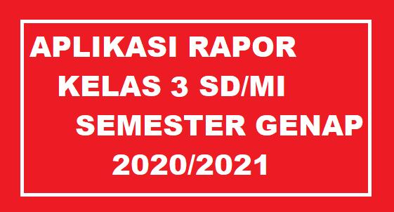 gambar Aplikasi Raport k13 kelas 3 SD Semester genap 2021