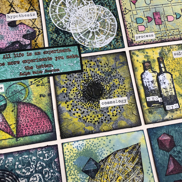 Science Journal page with PaperArtsy stamps