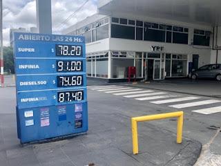 Una nueva suba de combustibles: la nafta y el gasoil aumentaron un 1,2% en algunas estaciones de servicio