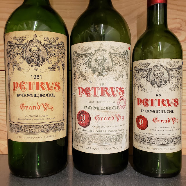 Petrus 1961 - Close up on labels ©LeDomduVin 2019