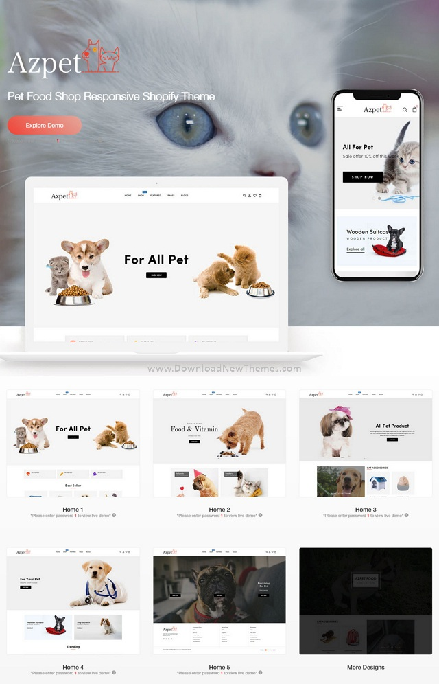 Pet Food Store Responsive Shopify Theme