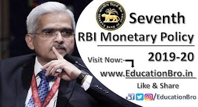 RBI has announced Seventh Bi-Monthly Monetary Policy Statement 2019-20: Point-to-Point Details
