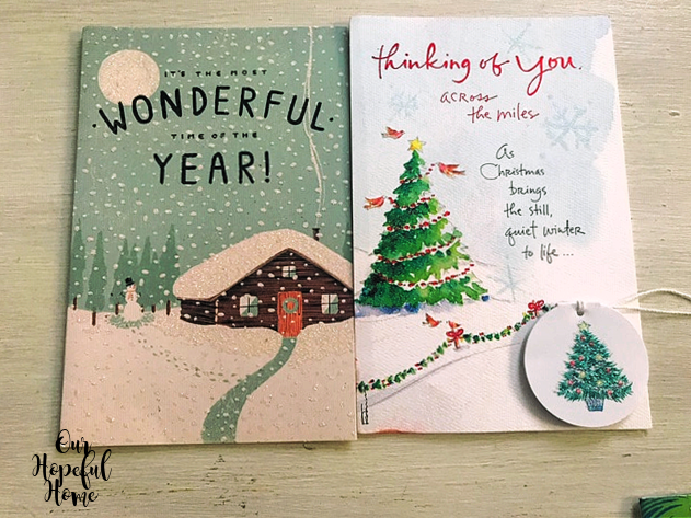 two Christmas cards