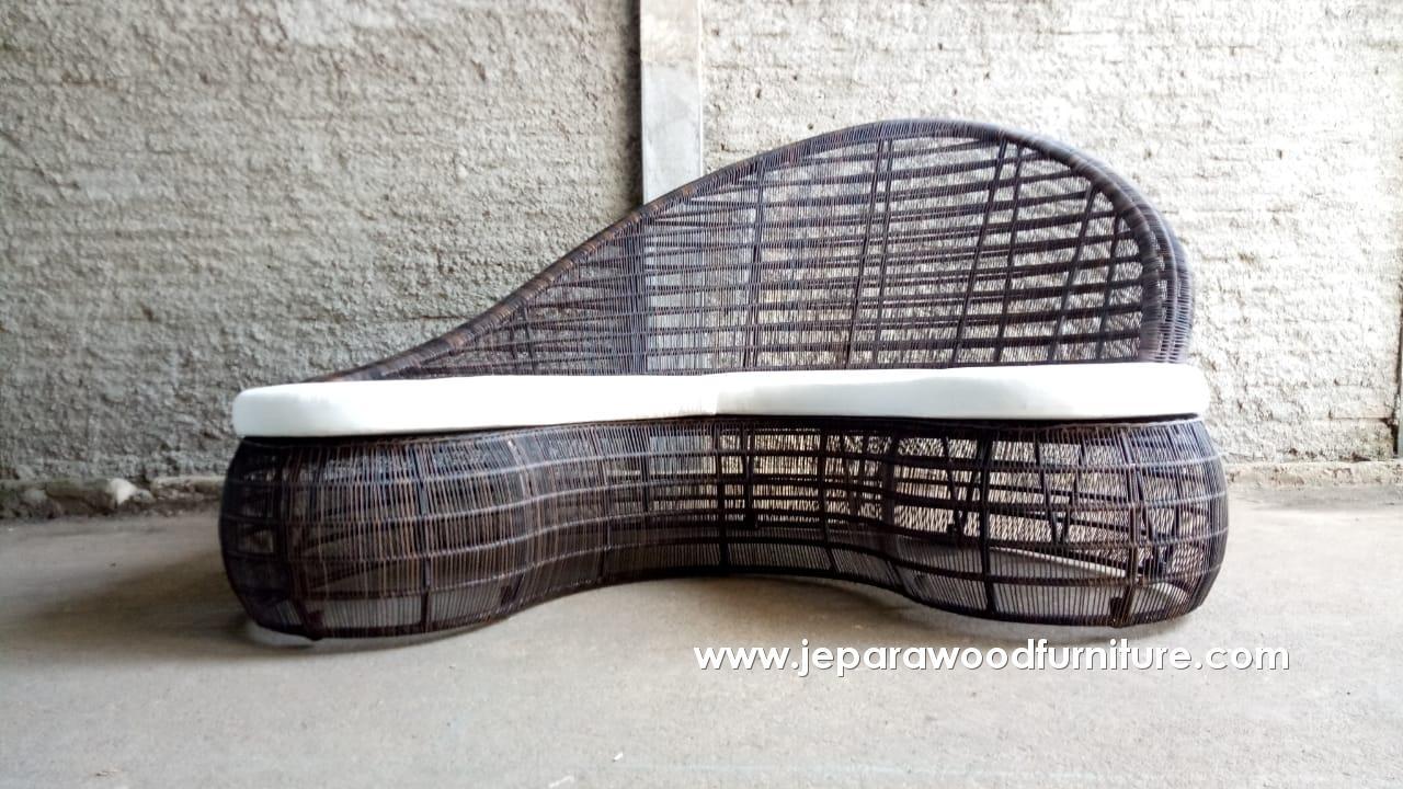 Outdoor Wicker Custom Shaped Sofa
