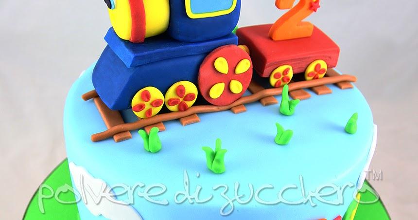 Torta decorata in pasta di zucchero di bob il trenino per il