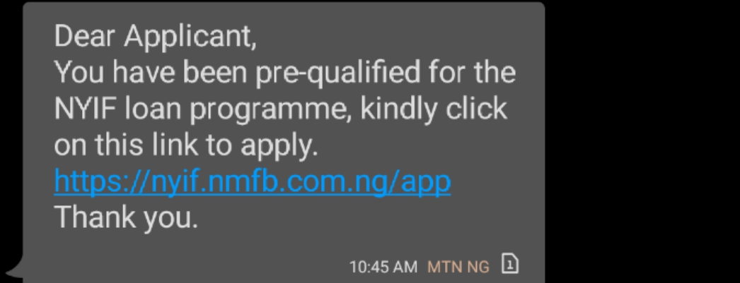If You're Pre-qualified For NYIF Loan Programme Kindly Read This
