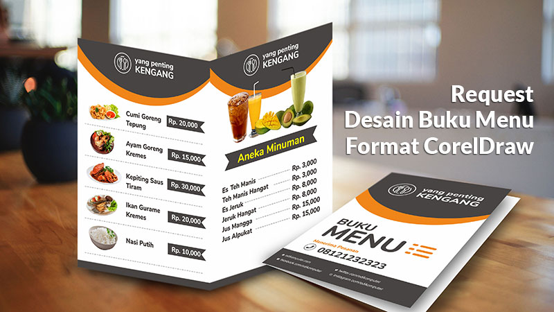 Download Desain Buku menu format coreldraw