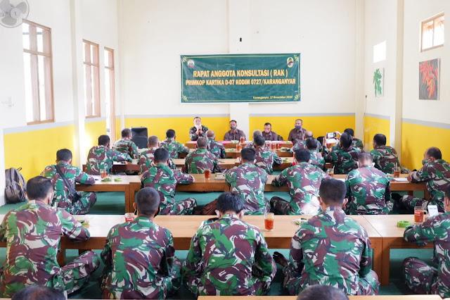 Rapat Anggota Konsultasi Primkop Kartika D-07 Kodim 0727/Karanganyar