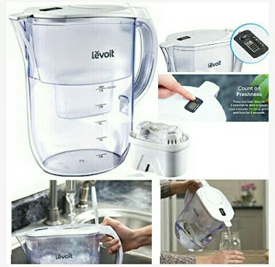 Levoit Water Purifier Jug with Digital Filter Indicator