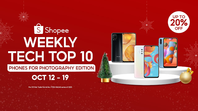 Upgrade your selfie games with these 100% authentic smartphones on Shopee