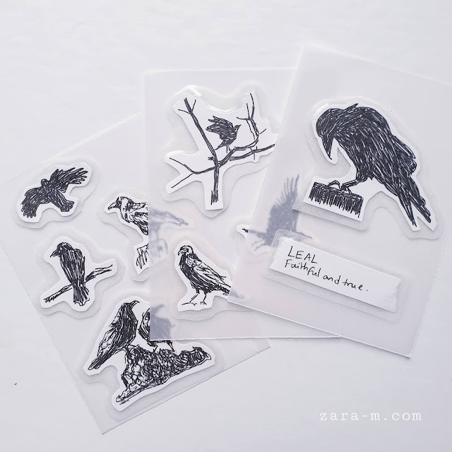 Crow Journal Stickers - for scrapbooks and junk journals