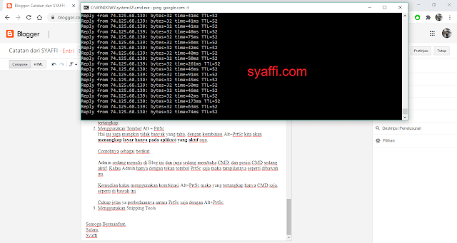 PrtSc saja saat Screenshoot pada Windows 10