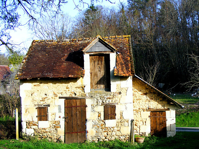 Vernacular building in a hamlet.  Indre et Loire, France. Photographed by Susan Walter. Tour the Loire Valley with a classic car and a private guide.
