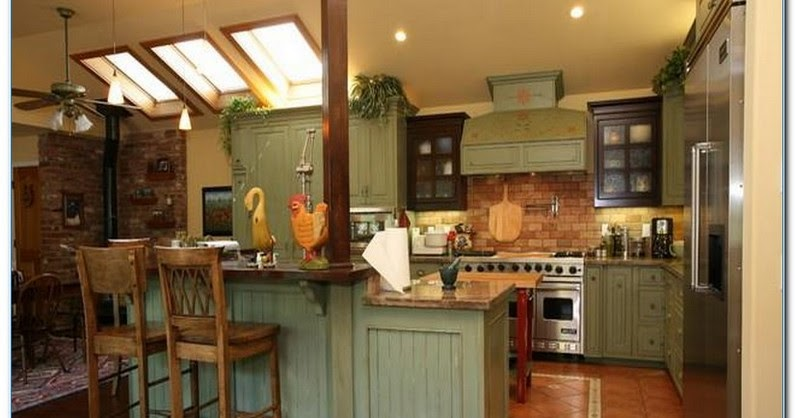 Green Country Kitchen Ideas Home Interior Exterior Decor Design Ideas