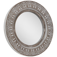 White Washed Accent Mirror