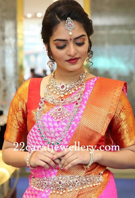 Peacock Diamond Set by Chandubhai Jewellers