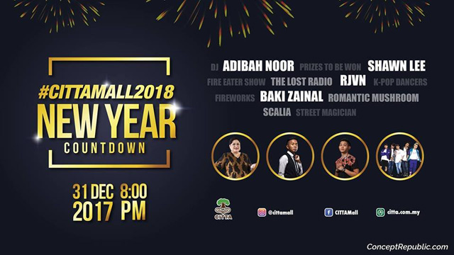 cant have a new year countdown without one for sure followed by k pop dance performance street magician and special appearance by adibah noor