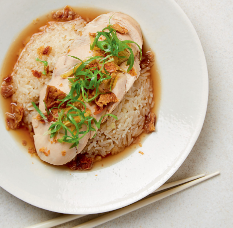Chinese-style Ginger Chicken with Garlic Rice