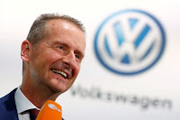 Volkswagen's CEO Herbert Diess speaks ahead of Volkswagen Group's annual general meeting in Berlin, Germany, May 14, 2019. (Credit: kdal610.com) Click to Enlarge.