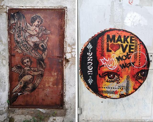 Due opere di Noire nel centro storico di Massafra