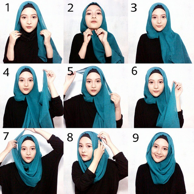Gambar Cara Memakai Hijab Modern Style Simple 2016