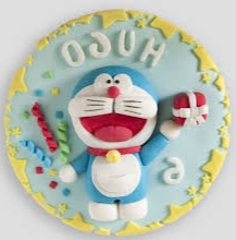 kue karakter kartun Doraemon