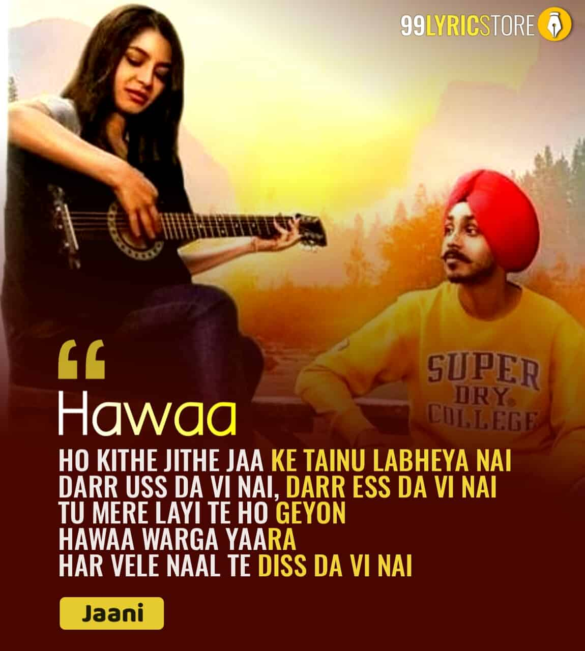 Hawaa punjabi sad song sung by Grann Sidhu