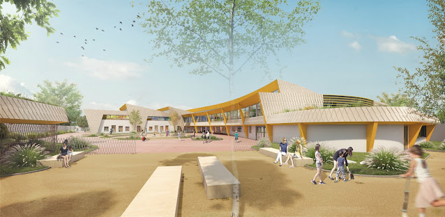 Image 3D de concours - Entrée de l'école