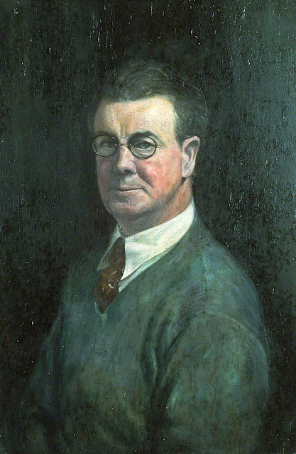 Howard Lloyd Roberts, Self Portrait, Portraits of Painters, Howard Lloyd, Fine arts, Portraits of painters blog, Paintings of Howard Lloyd Roberts, Lloyd Roberts, Painter Howard Lloyd Roberts