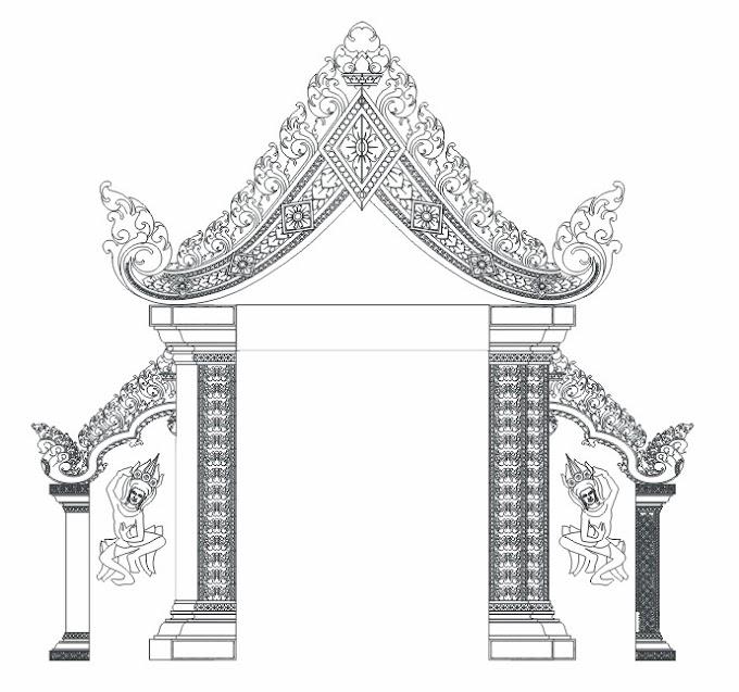 Khmer Temple free Vector Graphic file (Free AI File & Corel Draw File)