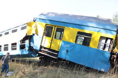 Zniszczony wagon serii Bhp