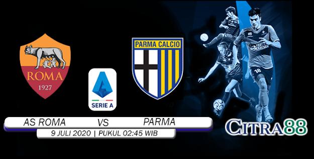 Citrabetonline – Menyajikan Prediksi Bola dan Tebak Skor AS ROMA VS PARMA 9 Juli 2020 Tepatnya Pada hari Kamis, 2020 pukul 02:45 waktu indonesia barat akan di adakan laga pertandingan Liga Italia ( Italy Serie A ) yang akan di laksanakan di Stadion Olimpico.