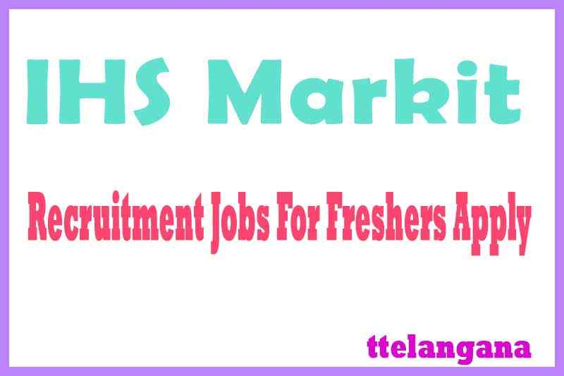 IHS Markit Recruitment Jobs For Freshers Apply