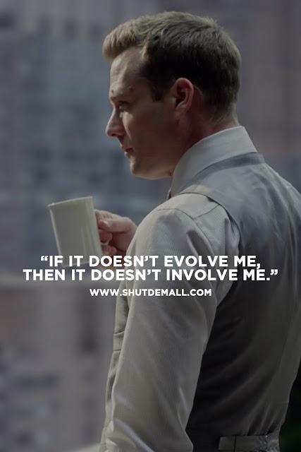 Harvey Specter Quote on Life