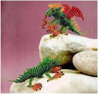 Динозавры из бисера. Схема
