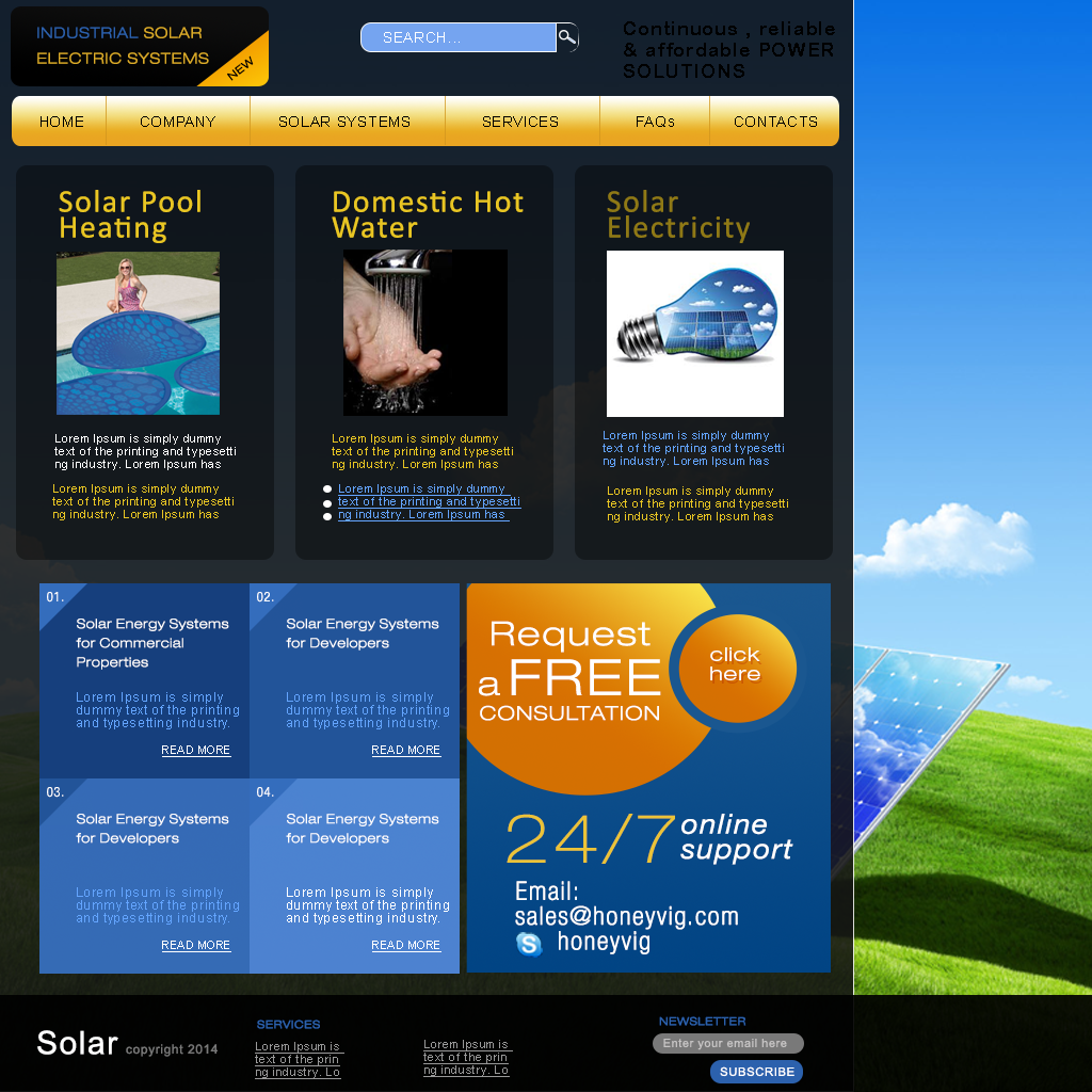 honeyvig.com/SOLARSYSTEMS WEB TEMPLATE-PHOTOSHOP.psd