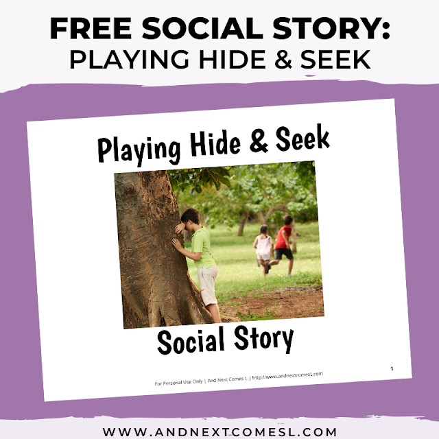 Free printable social story